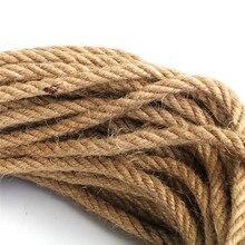6 мм 1 м-50 м веревки из натурального джута шпагат веревка пеньковый витой шнур макраме струна сделай сам, поделки ручной работы украшения для домашних животных Когтеточка