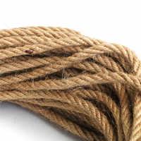 6mm 1m-50m Natural Jute Rope Twine Rope Hemp Twisted Cord Macrame String DIY Craft Handmade Decoration Pet Scratching