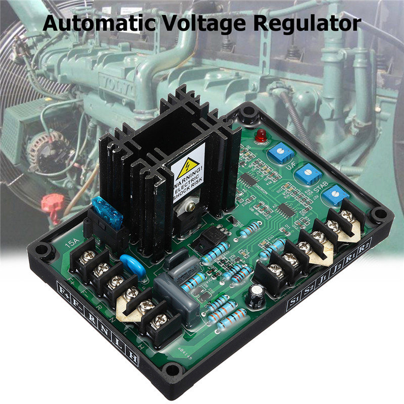 цена GAVR-15A Automatic Voltage Regulator 180~240V AC 8W 220/400 VAC Programmable Input Under Frequency Protection EMI Suppression