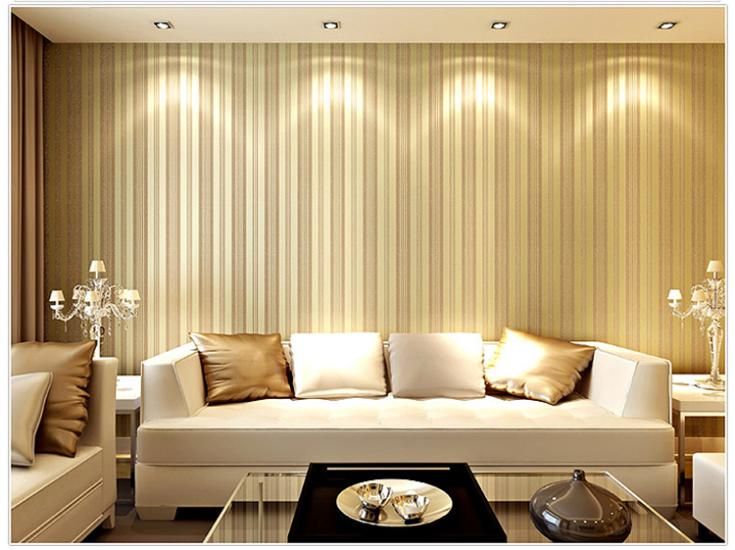 Vertical Stripe Pattern Non Woven Wall Paper Decor Living Room ...