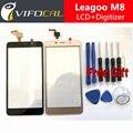 Leagoo M8 Tela de Toque + Ferramentas Conjunto de 100% Original Digitador Substituição Assembleia Painel Acessório Para Leagoo Telefone Celular M8