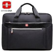 Svvtsscfap Мужская сумка деловая сумка мужчины портфель сумка женские нейлон мужские сумки 15 дюймов ноутбука Высокое Качество