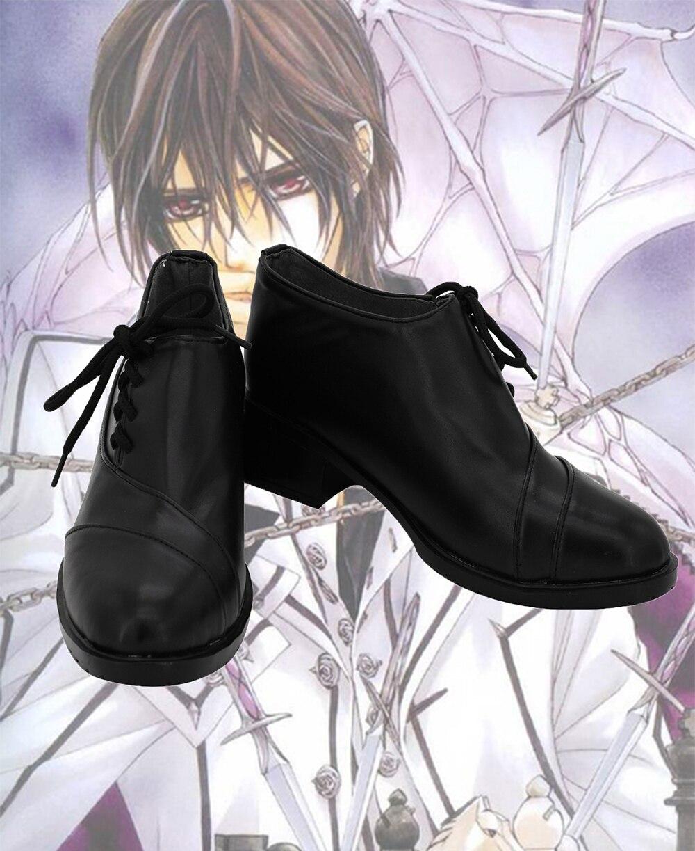 Vampire Knight Clan Kaname Cosplay chaussures bottes noires sur mesure toutes tailles