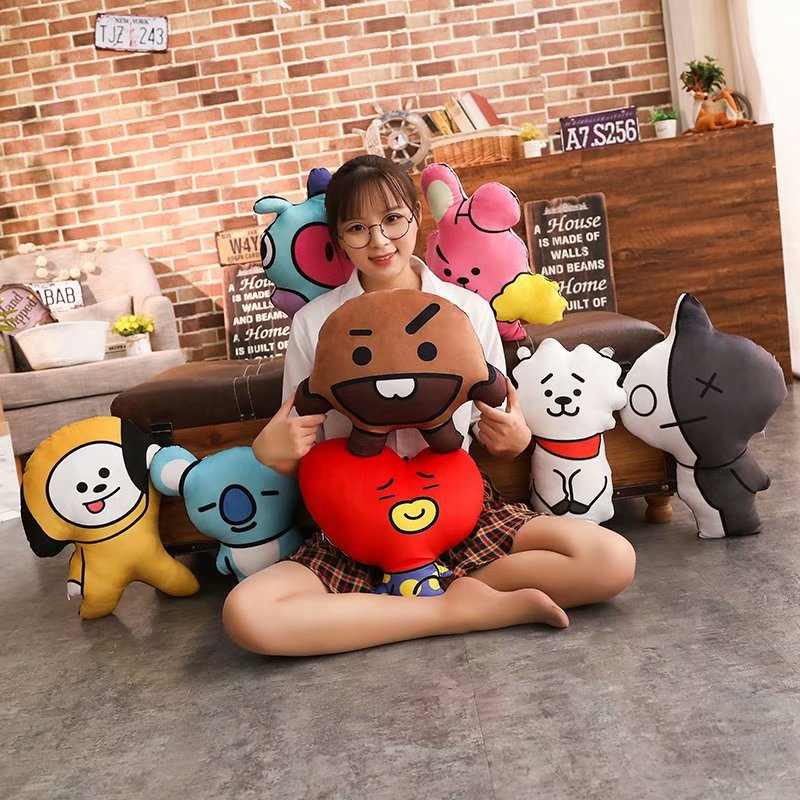Dolls & Stuffed Toys Intelligent Creative Cartoon Bts Bulletproof Youth Group Dolls Pillow Bt21 Soft Stuffed Stuffed Toys For Childrens Christmas Gifts Aromatic Character And Agreeable Taste