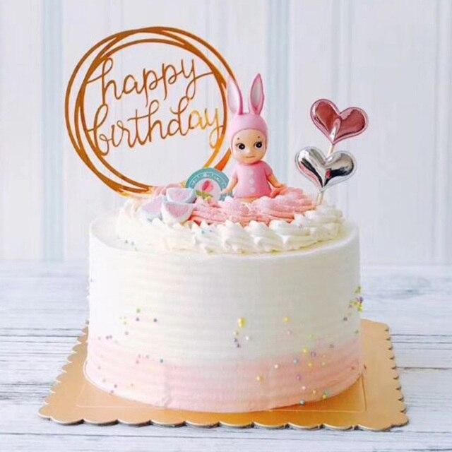 Happy Birthday Decoration Topper Cake Gold Love Wedding Cake Topper