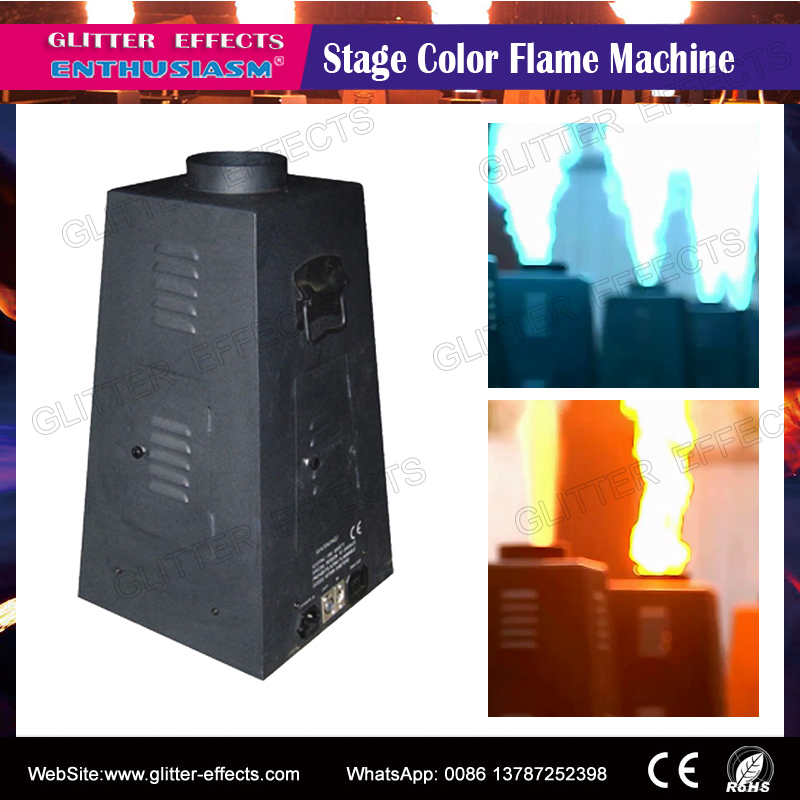 4 jet Color flame projector DMX512 hexagon Stage DJ Disco performance show Special Effect spray color fire machine for superstar