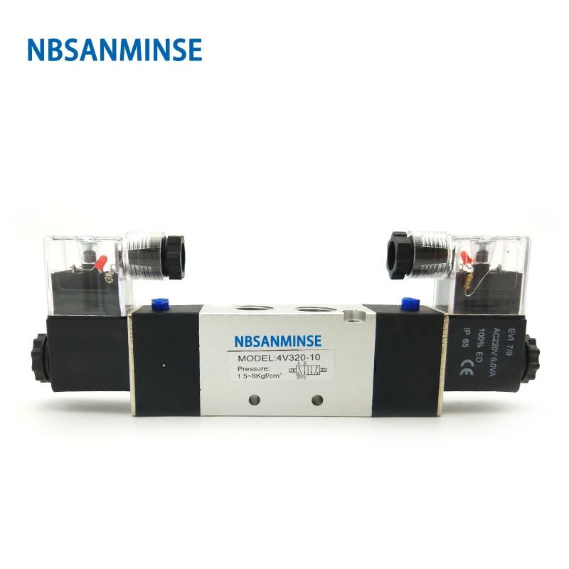 NBSANMINSE 4V310 4V320 4V330 Air Solenoid Valve G1/4 G3/8  Electromagnetic Valve AirTac Type Pneumatic Valve