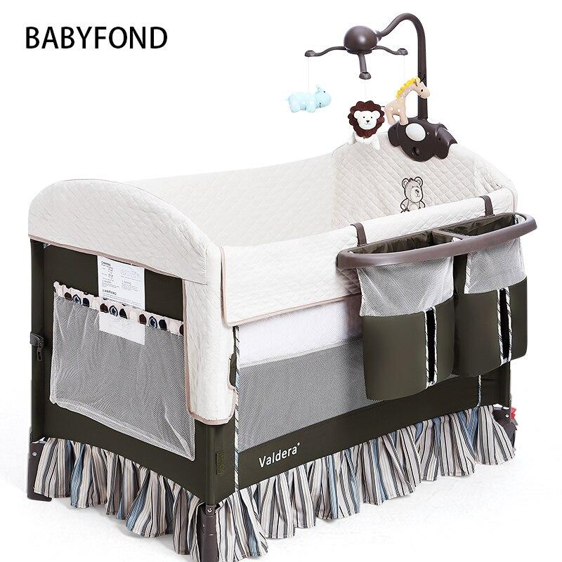 Haute qualité exportation bébé lit pliant portable lit de voyage 3 couleurs en stock Hong Kong livraison gratuite sans table à langer