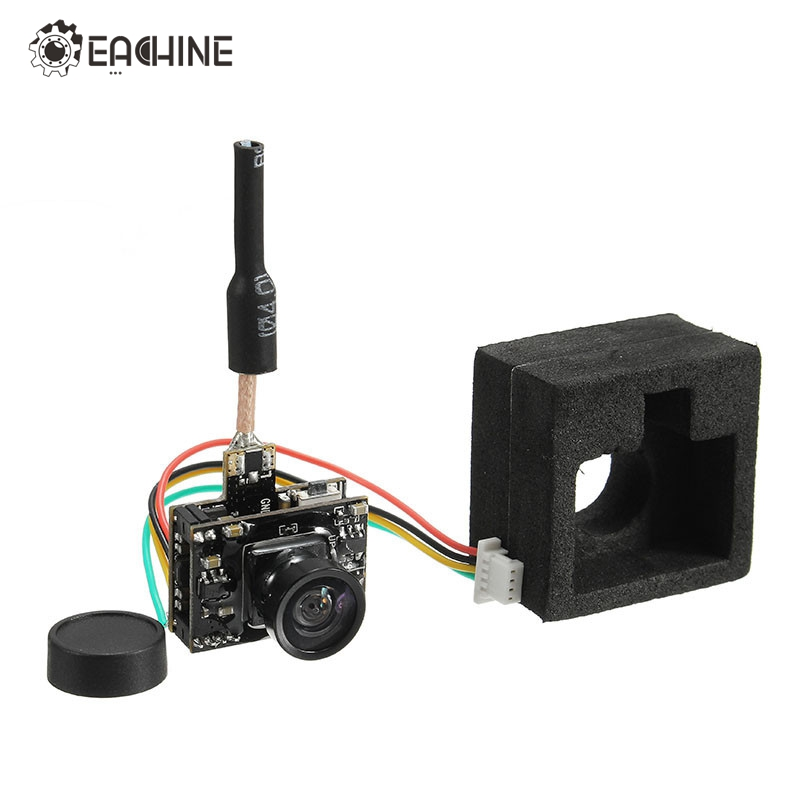 2017 Newest Eachine TX05 0.01/5/25/50/100 /250mW Switchable w/ OSD AIO 5.8G 72CH VTX 600TVL NTSC Mini FPV Camera for RC Drone(China)