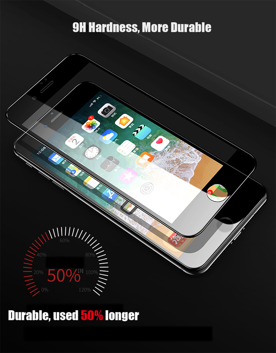 MOUSEMI 6D Full Protective Glass For iPhone X 9H Screen Protectors Film Curved Edge For iPhone 7 8  6s 6 Plus Tempered Glass On (5)