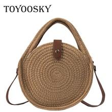 TOYOOSKY Round Mulit Style Straw Bag Handbags Women Summer Rattan Crossbody Bag Handmade Woven Beach Circle Bohemia Shoulder Bag все цены