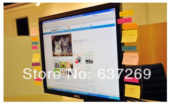 5pcs/lot Free Shipping PC Monitor Screen Post It Board Card Photo ...