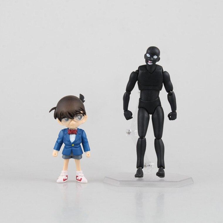 Dessin animé mignon Nendoroid Jimmy Kudo Conan Edogawa Konan ombre Figure 14 CM PVC figurine Action modèle poupée jouets Brinquedos