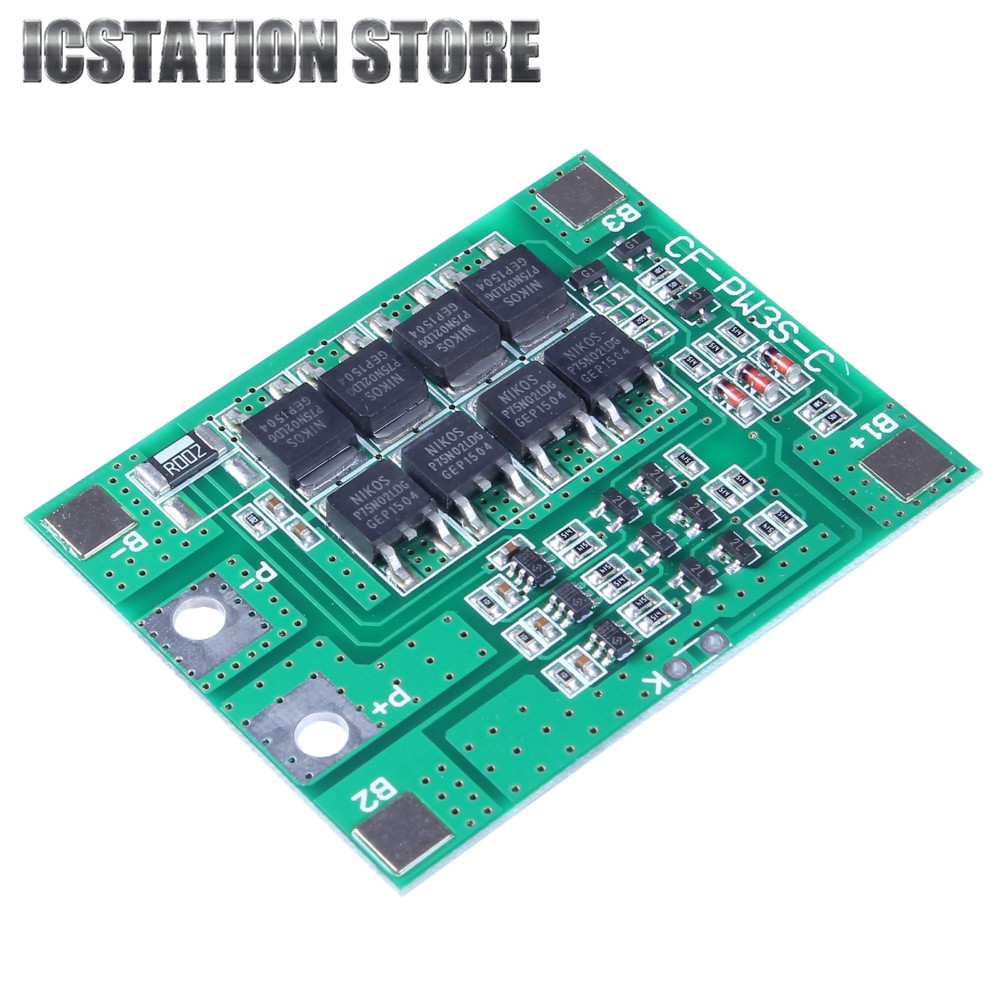 30A 3S 18650 Li-ion lithium Battery Cell Charger Protection Board PCB Lithium Polymer Battery Charging Module 5pcs 2s 7 4v 8 4v 18650 li ion lithium battery charging protection board pcb 40 7mm overcharge overdischarge protection