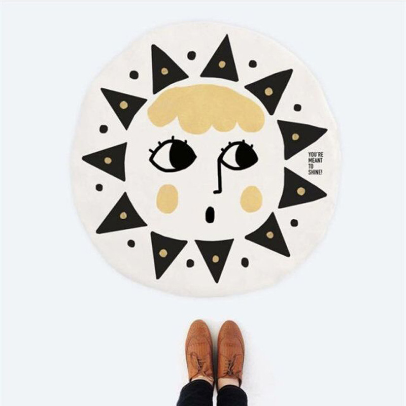 95 см Защита от солнца лица печатных детские Ковры для игр игра ползать Одеяло хлопок Постельные принадлежности спальный Одеяло для новорож...