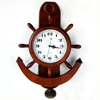 European Style Wall Clock Creative Wood Vintage Decoration Relogio De Parede Home Living Room Wall Decoration