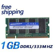 KEMBONA Laptop Memory DDR1 1GB SODIMM Notebook RAM PC2700 DDR1 333MHz Free Shipping