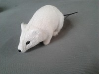 Halloween Practical Jokes Toy Simulation White Mouse Polyethylene Furs 15x7cm Mouse Model Playing A Trick Funny