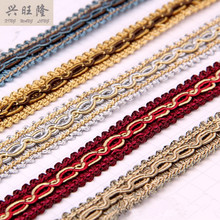 15Yards/Lot 2CM Width Lace Trim Curtain Garment Lamp Sofa Pillow Edge Tapestry Braid Accessories Fringes Ribbon DIY Sewing