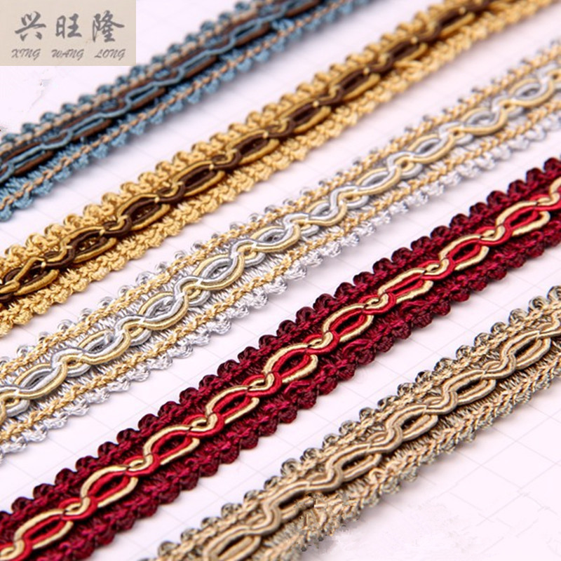 XWL 15Yards/Lot 1.5CM Wide Lace Ribbon Curtain Lamp Sofa Pillow Edge  Tapestry Braid