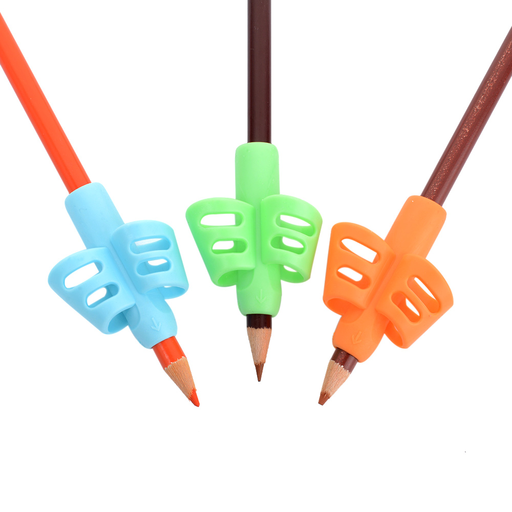 JESJELIU 8Pcs /Set Soft Children Pencil Holder Pen Writing Aid Grip Posture Correction Tool