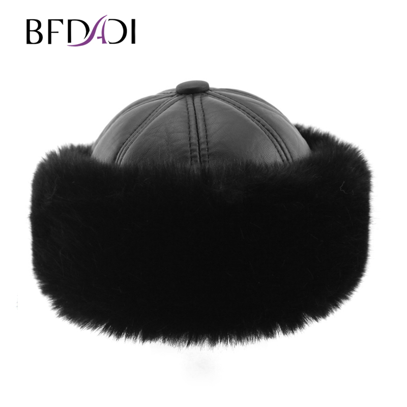 BFDADI 2019 New Arrival Men's Warm Hats, Classic Mongolian Hat, Fashion Lei Feng Hat, Warm Winter Bomber Hat For Men
