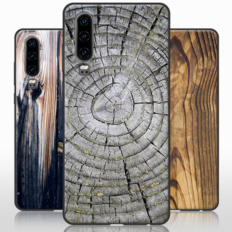 """For Huawei P30 Case wood stone pattern painted soft silicone TPU phone Case For Huawei P30 ELE-AL00 back cover P 30 coque 6.1"""""""