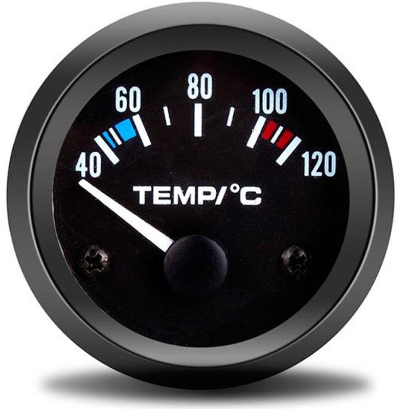 52mm puntero de la motocicleta del coche Celsius luz blanca medidor de temperatura del agua modificado sensor de temperatura para automóvil temperatura automática Boost/Vacuum/temperatura del agua/temperatura del aceite/Prensa de aceite/voltaje/tacómetro/relación de combustible del aire/indicador de EGT + vainas de calibre 52mm