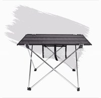 10PCS Outdoor Folding Table Camping Aluminium Alloy Picnic Table Waterproof Ultra Light Durable Folding Table Desk