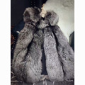 Classic Full Pelt Silver Fox Fur Vests Genuine Real Fox Fur Coat Sleeveless Coat Women Fur 2017 Short Fur Vest Gray XL Vests