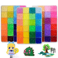 72 colors 39000pcs Perler Toy Kit 5mm/2.6mm Hama beads 3D Puzzle DIY Toy Kids Creative Handmade Craft Toy Gift