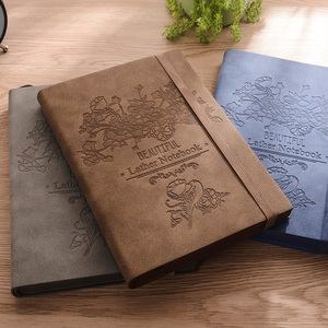 Image 4 - 2020 Rerro Sheepskin Book Planner Business Notebook Meeting Minutes Book Diary Office Stationery A5 Free Lettering Custom Logo