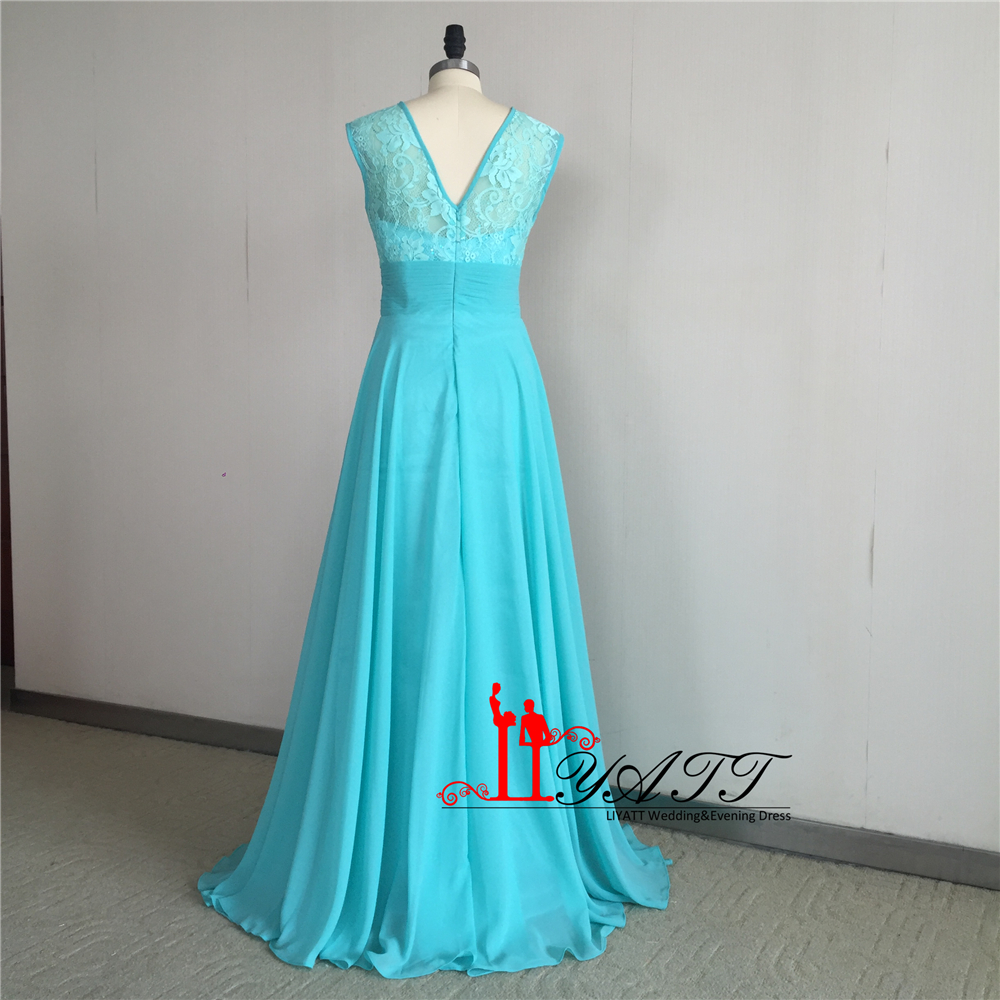 Cheap Turquoise Bridesmaid Dresses 2017 New Arrival Lace Chiffon ...