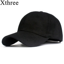 Xthree solid men s wool baseball cap winter cap warm bone snapback hat gorras fitted hats