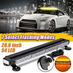 Universal 54 LED ámbar tráfico Advisor doble lado estroboscópico Flash barra de luz advertencia Fl = ashing Singal luz impermeable