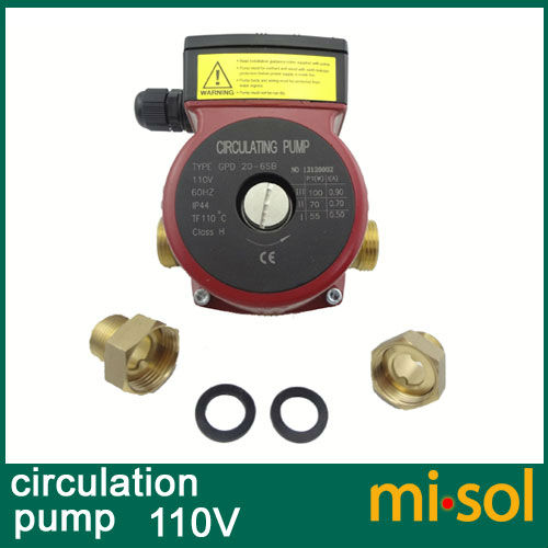110v Brass circulation pump 3 speed, for solar water heater or for hot water heating system недорого