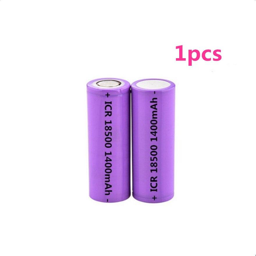 1 pçs/lote 3.7V 18500 1400mAh bateria de lítio recarregável 3.7V bateria de lítio forte luz lanterna anti-luz especial