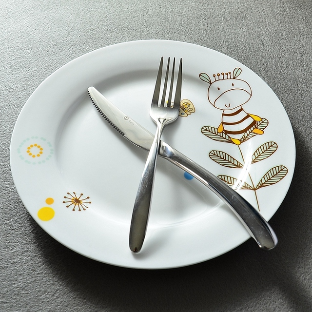 10inch bone china dinner plate cute cow design porcelain dinnerware for serving & 10inch bone china dinner plate cute cow design porcelain ...