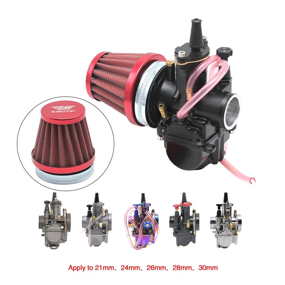 ZSDTRP Universal 50mm Motorcycle Air Filter Fit PWK KOSO KEIHIN 21 24 26 28  30mm PE 28/30mm PD30J Carburetor Tapered Cleaner