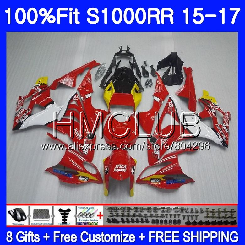 Injection mold For BMW S 1000RR S1000 RR S1000RR 15 16 17 Bodywork 118HM.16 S 1000 RR 2015 2016 2017 Fairings GLossy red Body image