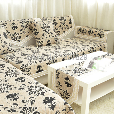 Family Elegant Quality Linen Slipcover Jacquard Flowers Sofa Cushion Widen Seat Mat Pad For Cover Cloth Nice 90cm 240cm In From Home