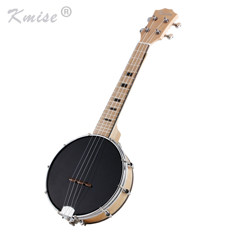 Kmise 4 String Banjo Ukulele Uke Concert 23 Inch Ukelele Maple Wood Musical Instruments
