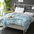 Скандинавские голубые листья синие нитки полотенца одеяла летние трикотажные одеяло 150x200 см/200x230 см хлопок ткань кондиционер покрывало для ...