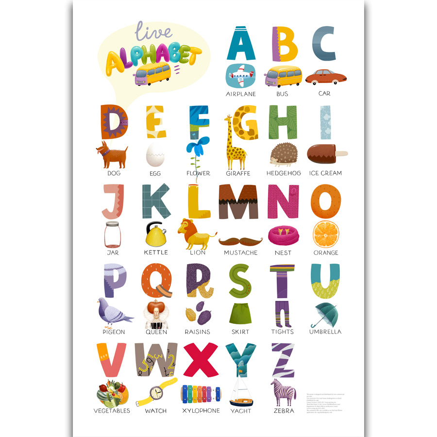 picture regarding Alphabets Chart Printable referred to as US $5.49 S314 ABC ALPHABET CHART Children Schooling English Language Little one Place Wall Artwork Portray Print Upon Silk Canvas Poster Property Decoration-inside Portray