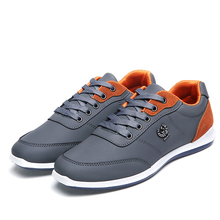 New 2017 Fashion Men Casual Shoes Outdoor men walking shoes Black Blue men casual shoes men leather shoes