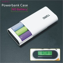 TOMO V8-3 Intelligent portable DIY display power bank Case 18650 battery charger case 5V/2A output max (NOT BATTERY)