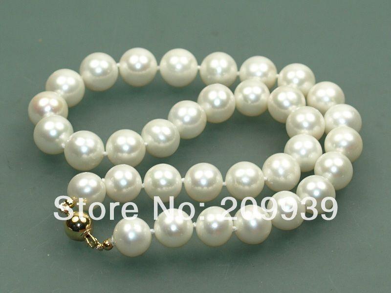 Huij 003309 AAA + 12-13mm Blanc culturel naturel perle akoya collier