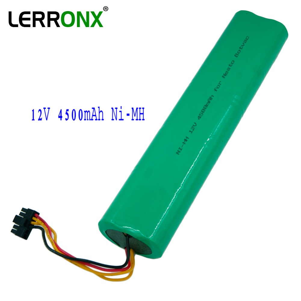 LERRONX High Quality <font><b>12V</b></font> <font><b>4.5Ah</b></font> 4500mAh NI-MH Vacuum Cleaner Replacement Rechargeable battery for Neato Botvac 70e 75 80 D75 D85 image