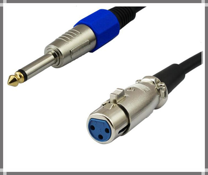 Cable 6 35mm Stereo Mini Jack to XLR Female Mic Audio Speaker Lead 5 Meters Free cable xlr mini jack stereo efcaviation com sennheiser cl100 wiring diagram at mifinder.co