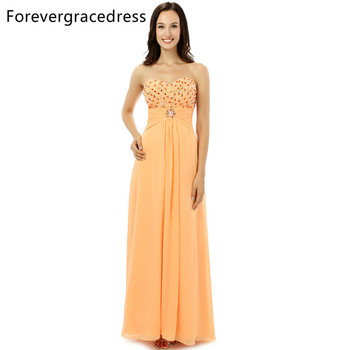 Forevergracedress Real Photo Modest Chiffon Evening Dress New Arrival Sweetheart Backless Long Formal Party Gown Plus Size